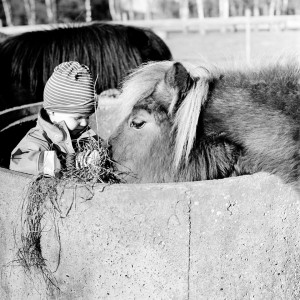 Malou får mat. Foto: Jane Haglund